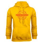 Gold Fleece Hoodie-Thunderbirds Basketball Lined Ball