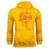 Gold Fleece Hoodie-T-Birds Baseball Script and Plate
