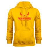 Gold Fleece Hoodie-Thunderbirds Track & Field Wings