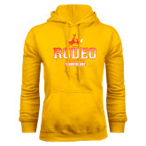 Gold Fleece Hoodie-Rodeo Textured with Rider