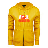 ENZA Ladies Gold Fleece Full Zip Hoodie-NMJC Thunderbirds Lettermark