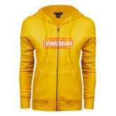 ENZA Ladies Gold Fleece Full Zip Hoodie-Mens Basketball