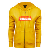 ENZA Ladies Gold Fleece Full Zip Hoodie-Womens Basketball