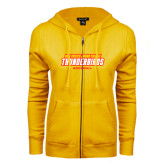 ENZA Ladies Gold Fleece Full Zip Hoodie-Baseball