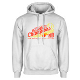 White Fleece Hoodie-2019 Baseball Champions