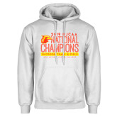 White Fleece Hoodie-2019 NJCAA National Outdoor Track and Field Champions