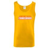 Gold Tank Top-Thunderbirds Word Mark