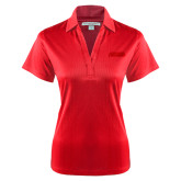 Ladies Red Performance Fine Jacquard Polo-Thunderbirds Word Mark