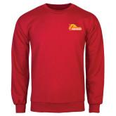 Red Fleece Crew-Primary Logo