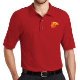 Red Easycare Pique Polo-Thunderbird Head