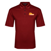 Red Performance Fine Jacquard Polo-Primary Logo
