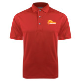 Red Dry Mesh Polo-Primary Logo