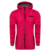 Ladies Dark Fuchsia Waterproof Jacket-Thunderbirds Word Mark