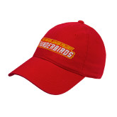 Red Twill Unstructured Low Profile Hat-Thunderbirds Word Mark