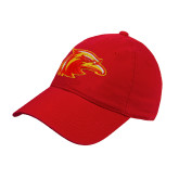 Red Twill Unstructured Low Profile Hat-Thunderbird Head