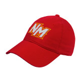 Red Twill Unstructured Low Profile Hat-NM Lettermark