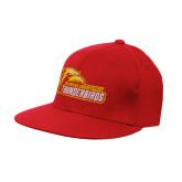 Red OttoFlex Flat Bill Pro Style Hat-Primary Logo