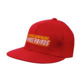 Red OttoFlex Flat Bill Pro Style Hat-Thunderbirds Word Mark