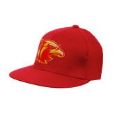 Red OttoFlex Flat Bill Pro Style Hat-Thunderbird Head