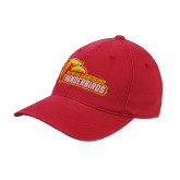 Red OttoFlex Unstructured Low Profile Hat-Primary Logo