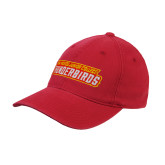 Red OttoFlex Unstructured Low Profile Hat-Thunderbirds Word Mark
