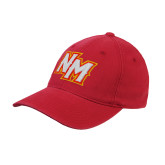 Red OttoFlex Unstructured Low Profile Hat-NM Lettermark