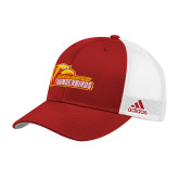 Adidas Red Structured Adjustable Hat-Primary Logo