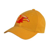 Gold Twill Unstructured Low Profile Hat-Thunderbird Head