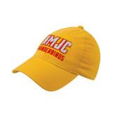Gold Flexfit Mid Profile Hat-NMJC Thunderbirds Lettermark
