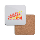 Hardboard Coaster w/Cork Backing-2019 Baseball Champions