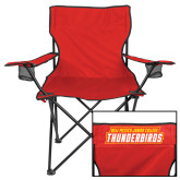 Deluxe Red Captains Chair-Primary Logo