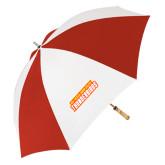 62 Inch Red/White Vented Umbrella-Thunderbirds Word Mark