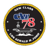 Medium Decal-CVN 78, 8 inches tall