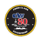 Extra Small Decal-CVN 80, 4.5 inches tall