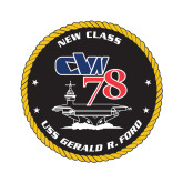 Extra Small Decal-CVN 78, 4.5 inches tall