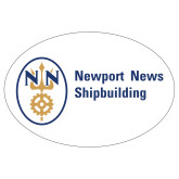 Extra Large Decal-Newport News Shipbuilding, 18 inches wide