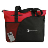 Excel Red Sport Utility Tote-Newport News Shipbuilding