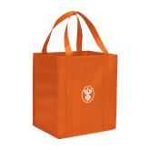 Non Woven Orange Grocery Tote-Icon