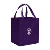 Non Woven Purple Grocery Tote-Icon