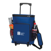 30 Can Blue Rolling Cooler Bag-Huntington Ingalls Industries