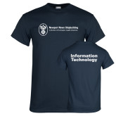 Navy T Shirt-Information Technology
