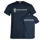 Navy T Shirt-Manufacturing and Material Distribution