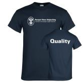 Navy T Shirt-Quality