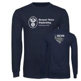 Navy Long Sleeve T Shirt-ISCVN