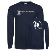 Navy Long Sleeve T Shirt-NNS IT