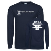 Navy Long Sleeve T Shirt-HR and A