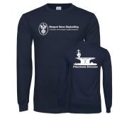 Navy Long Sleeve T Shirt-Programs Division