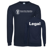 Navy Long Sleeve T Shirt-Legal