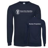 Navy Long Sleeve T Shirt-Nuclear Propulsion