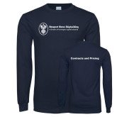 Navy Long Sleeve T Shirt-Contracts and Pricing